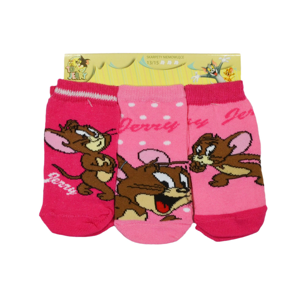 Tom and Jerry Baby Socks 3 pack